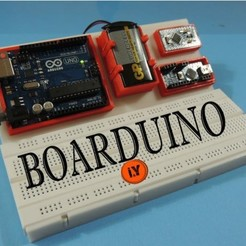Free 3D printer files BOARDUINO – ARDUINO ALL IN ONE BREADBOARD STAND, TheTNR