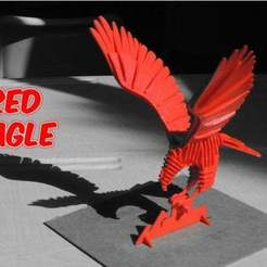 6af8dca11cf4b556a24e73e7b5f3ab04_preview_featured.jpg Download free STL file 3D PUZZLE : RED EAGLE • Model to 3D print, TheTNR
