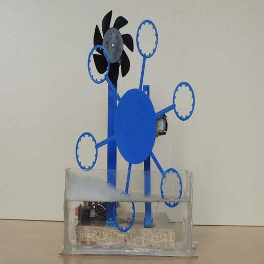 Descargar STL gratis Kit educativo de la máquina robótica de la ampolla de la burbuja para los cabritos, TheTNR