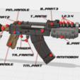 Télécharger fichier STL gratuit AK-47 DESERT • Plan à imprimer en 3D, TheTNR