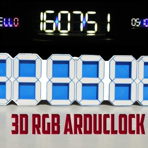 Descargar Modelos 3D para imprimir gratis 3D RGB ARDUCLOCK, TheTNR