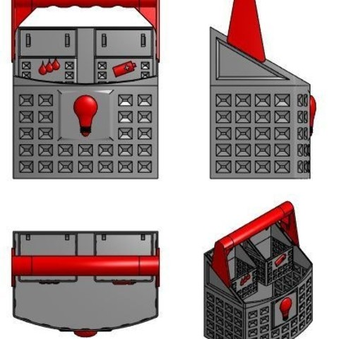 Plan ensemble casier.JPG Télécharger fichier STL gratuit Panier recyclage • Objet imprimable en 3D, mrballeure