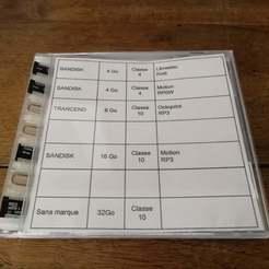 IMG_20200328_174151.jpg Descargar archivo STL gratis Soporte de tarjeta micro SD para ser montado en una caja de CD. • Diseño para la impresora 3D, mrballeure