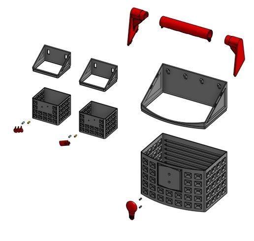 panier eclate.JPG Télécharger fichier STL gratuit Panier recyclage • Objet imprimable en 3D, mrballeure