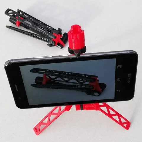 Free 3D printer files Mobile phone tripod, mrballeure