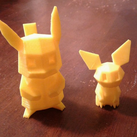 Télécharger STL gratuit Pokemon Low Poly Pichu Poly Low, brianwhitney