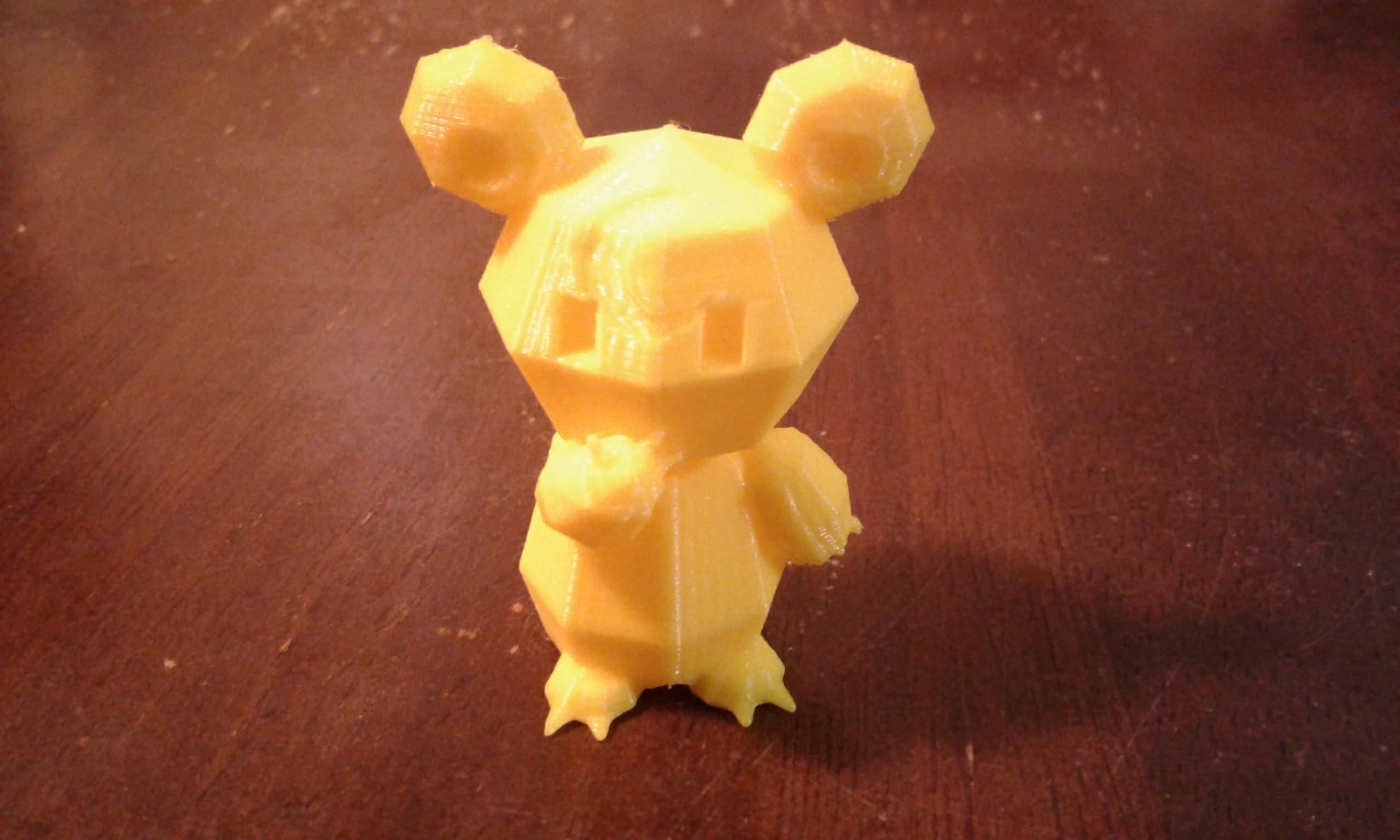 20180417_210634.jpg Download free STL file Pokemon Low Poly Teddiursa • Model to 3D print, brianwhitney