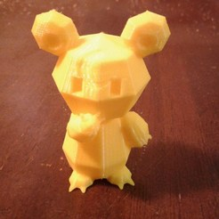 Download free 3D print files Pokemon Low Poly Teddiursa, brianwhitney