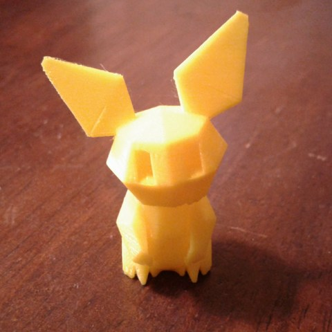 20180417_190640.jpg Download free STL file Pokemon Low Poly Pichu • 3D printer object, brianwhitney