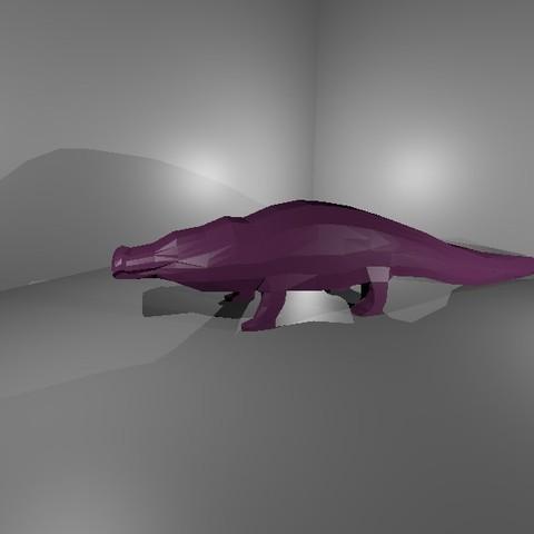 Coco 3.jpg Download free STL file Low Poly Crocodile • 3D printer design, 3Dreams