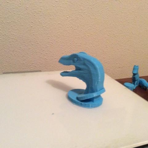 346E63BC-B43C-412A-8491-B7A01EF3B723.jpeg Download free STL file Raptor Head / Jurassic Park • 3D printer template, 3Dreams