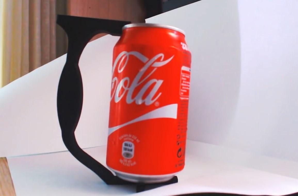 Lata de cocacola.jpg Download STL file Can Handle • Template to 3D print, 3Dreams