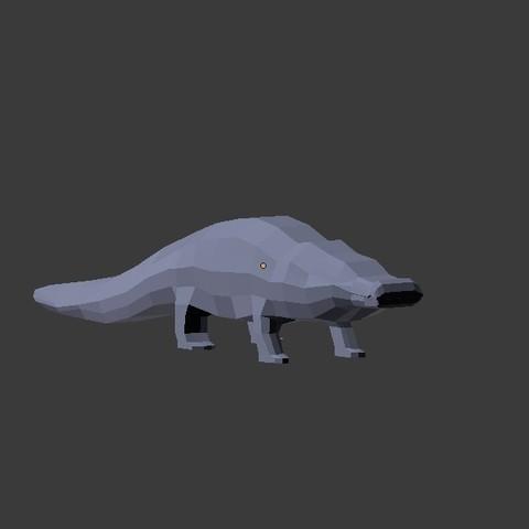 coco 4.jpg Download free STL file Low Poly Crocodile • 3D printer design, 3Dreams