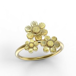 Download STL file Flower Ring, jagshh