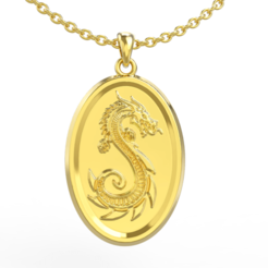 Download STL file Dragon Pendant, jagshh