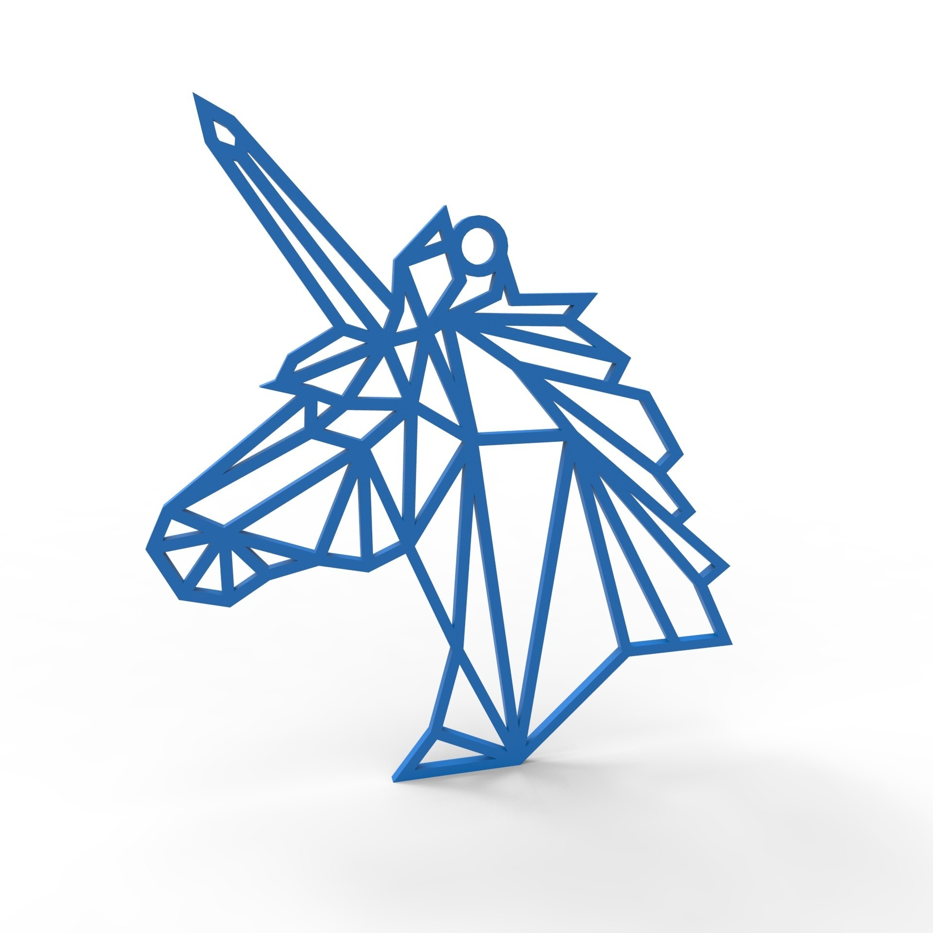 unicorn necklace.jpg Download STL file Unicorn Necklace • 3D printer object, TutoSolid