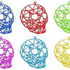 Skull Necklace Colors.jpg Télécharger fichier STL Collier de crâne • Modèle pour impression 3D, TutoSolid