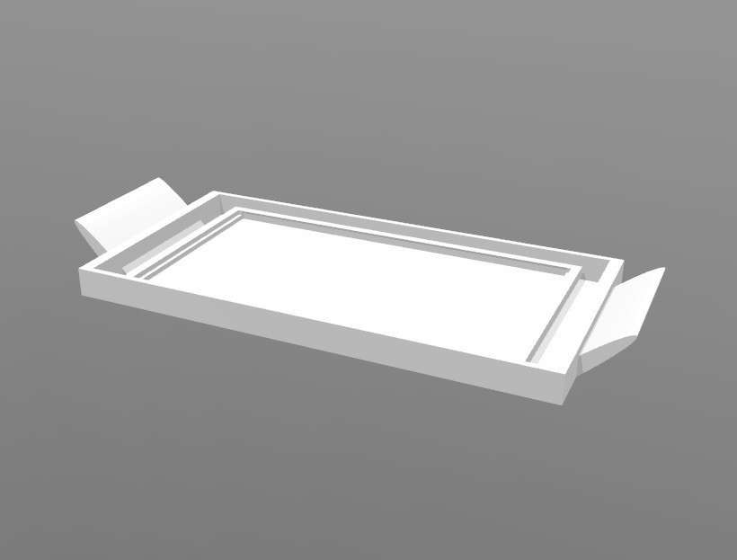 tablette beurre.jpg Download STL file Butter tray • 3D print template, ericmicek