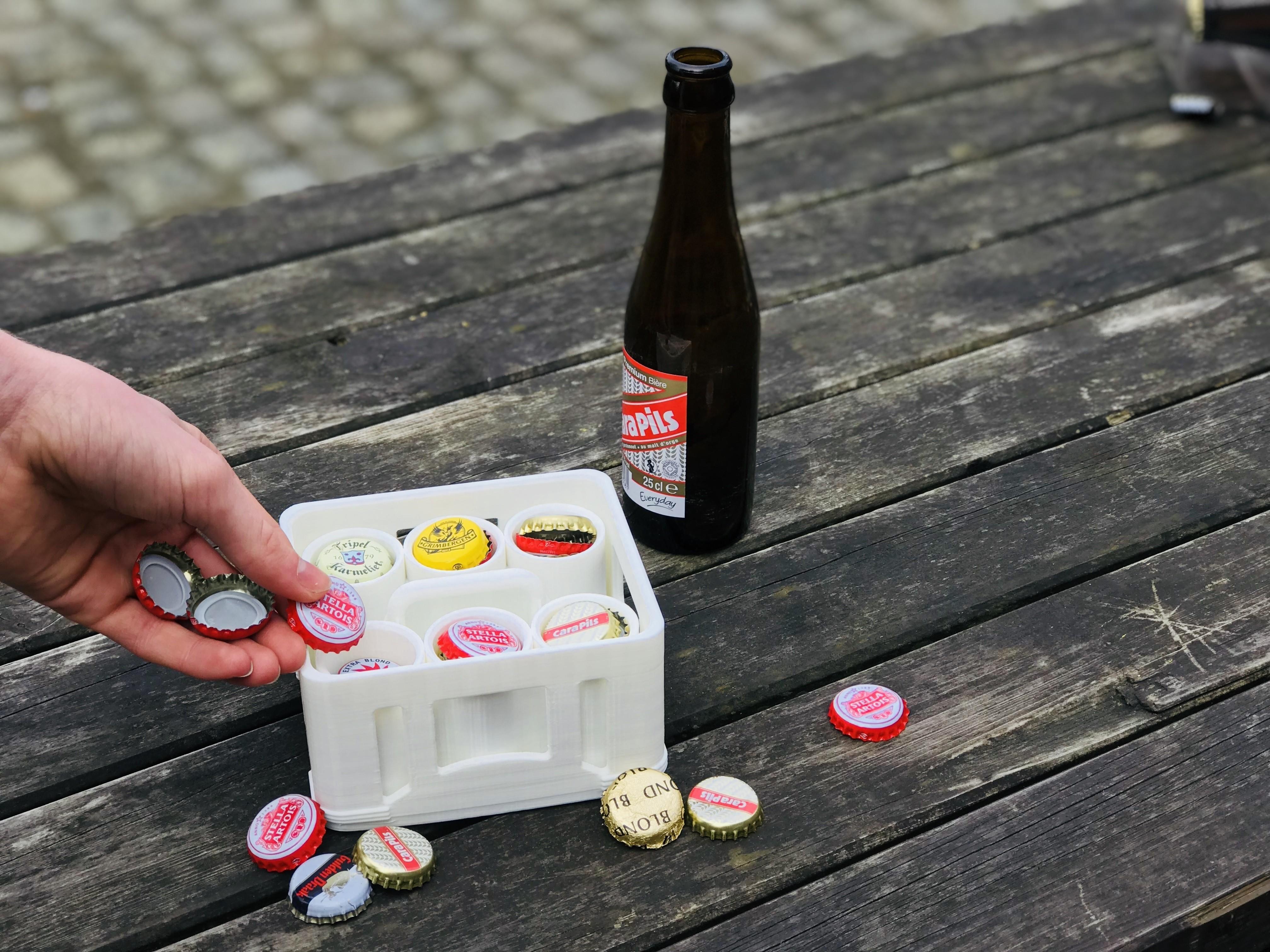 fill.jpg Download free STL file beer cap organizer • 3D printable model, dennisprijs