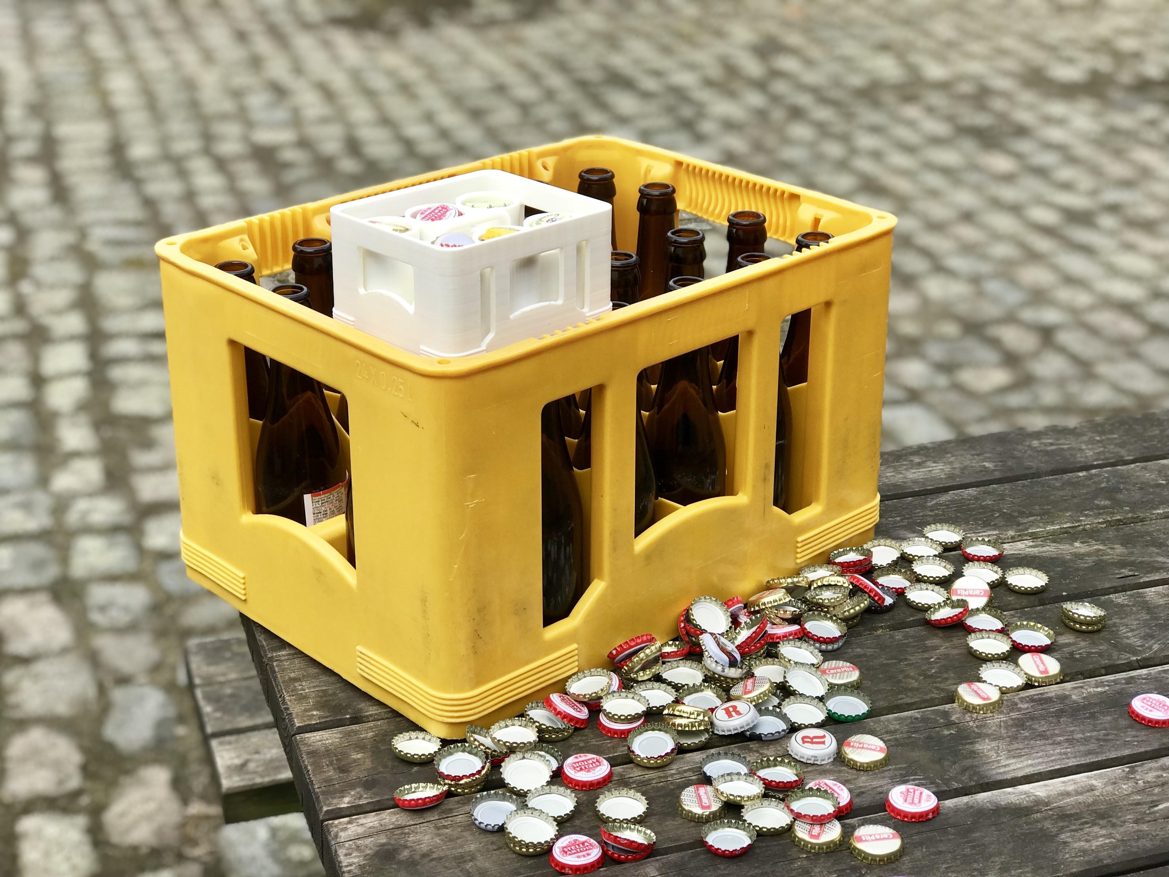 Size.jpg Download free STL file beer cap organizer • 3D printable model, dennisprijs