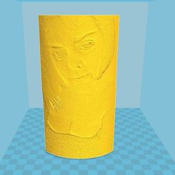 Free 3D print files Hot chick lithophane with mad clevage, wood-duck