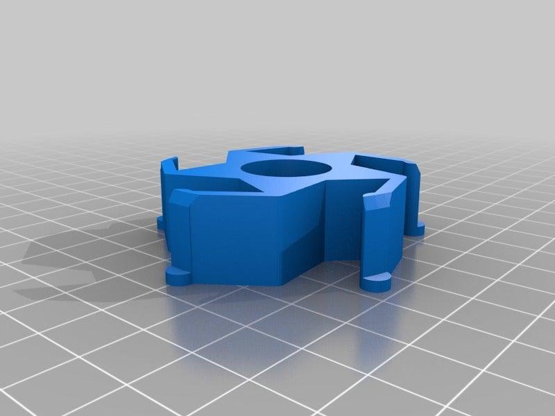 d6af84f2e9ae4691611034afc2a8d786.png Télécharger fichier STL gratuit Adaptateur pour le centre de regroupement de Renkforce/Ikea • Plan imprimable en 3D, Knaudler