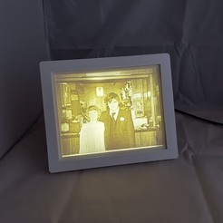 20191217_115105.jpg Download free STL file Light Box With Basic Frame & Reflector For 150x120mm Lithophanes • 3D printing design, gaza07