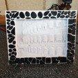 Imprimir en 3D gratis Marco de mosaico para mi caja de luz de Lithophane, gaza07