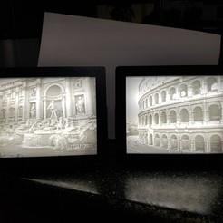 Descargar modelos 3D gratis Coliseo de Roma y Fontana de Trevi Litofanes, gaza07