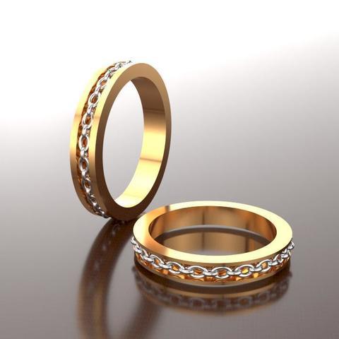 3D printing model Chain ring, Tresordegeek