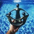 Download 3D printer model Mother and Children Sculpture, evandrofalleiros