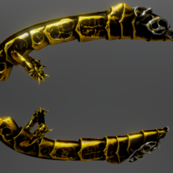Screenshot_2.png Download STL file Golden Daggers • Template to 3D print, Dekro
