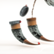 ren.163.png Download STL file Horn Mug • 3D printer object, Dekro