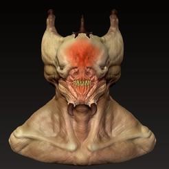 Download 3D printing designs Creature Bust, Dekro