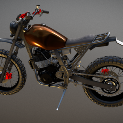 Download 3D printing templates Honda NX650 Dominator, Dekro