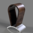 Headphone_Stand_RT_coollight.png Download STL file Headphone Stand • 3D printer design, Dekro