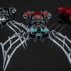 3D print files Spider Pack, Dekro