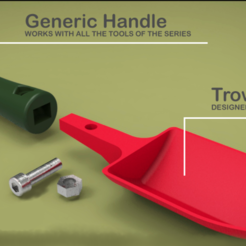 Download 3D printing files Gardening Trowel, Dekro