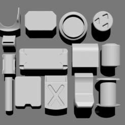 Download free 3D printer model Basic Kit-Bash Vol4, Dekro