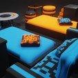blender_a0whO0bU5A.jpg Download STL file Furniture Set • 3D printer object, Dekro