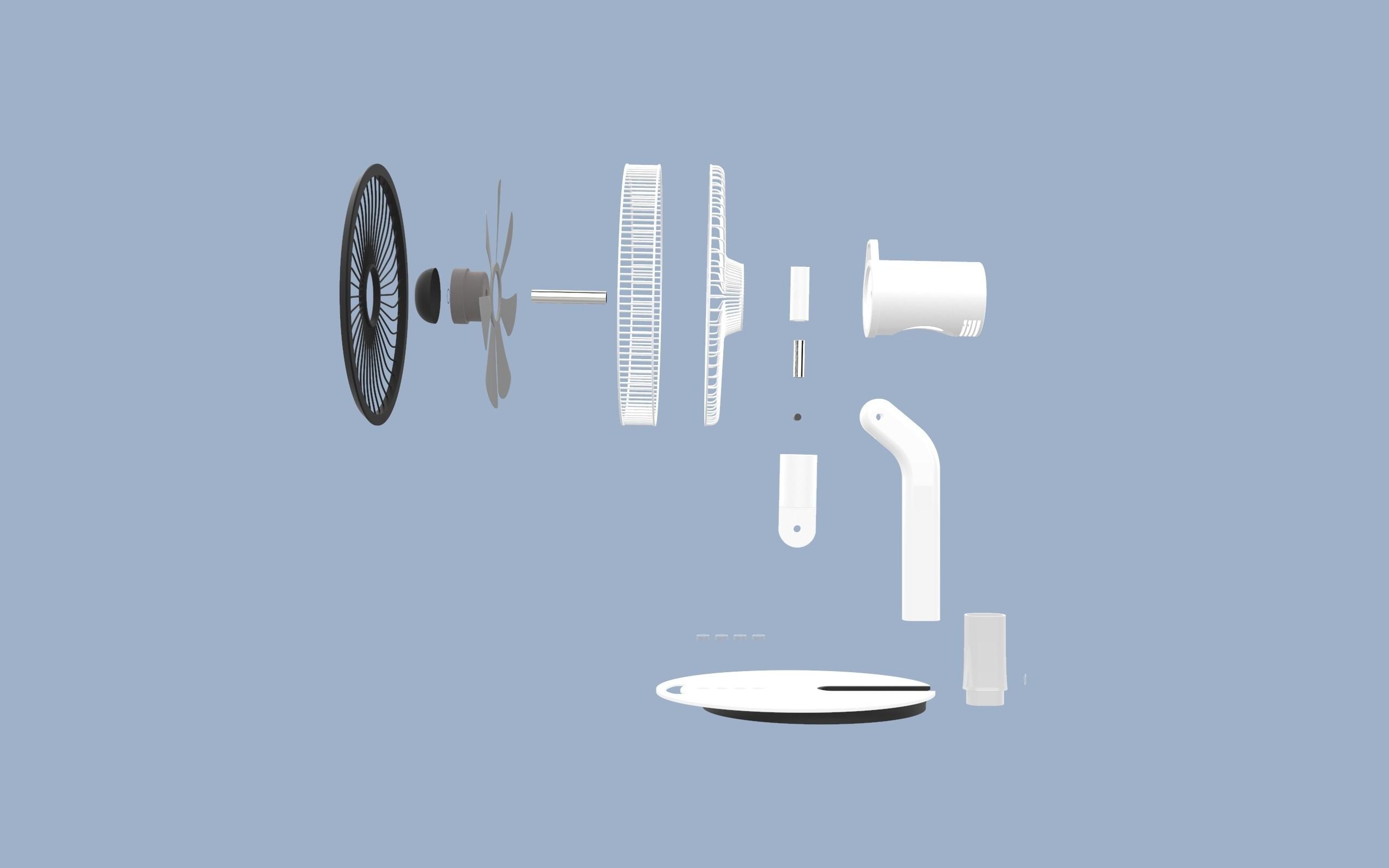 ff.347.jpg Download STL file Folding Table Fan • 3D printer object, Dekro