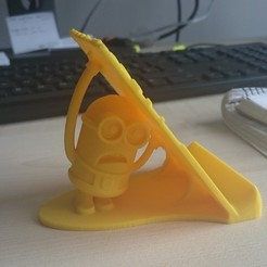 DSC_0036.JPG Download STL file Minion Phone Stand • Template to 3D print, Dekro