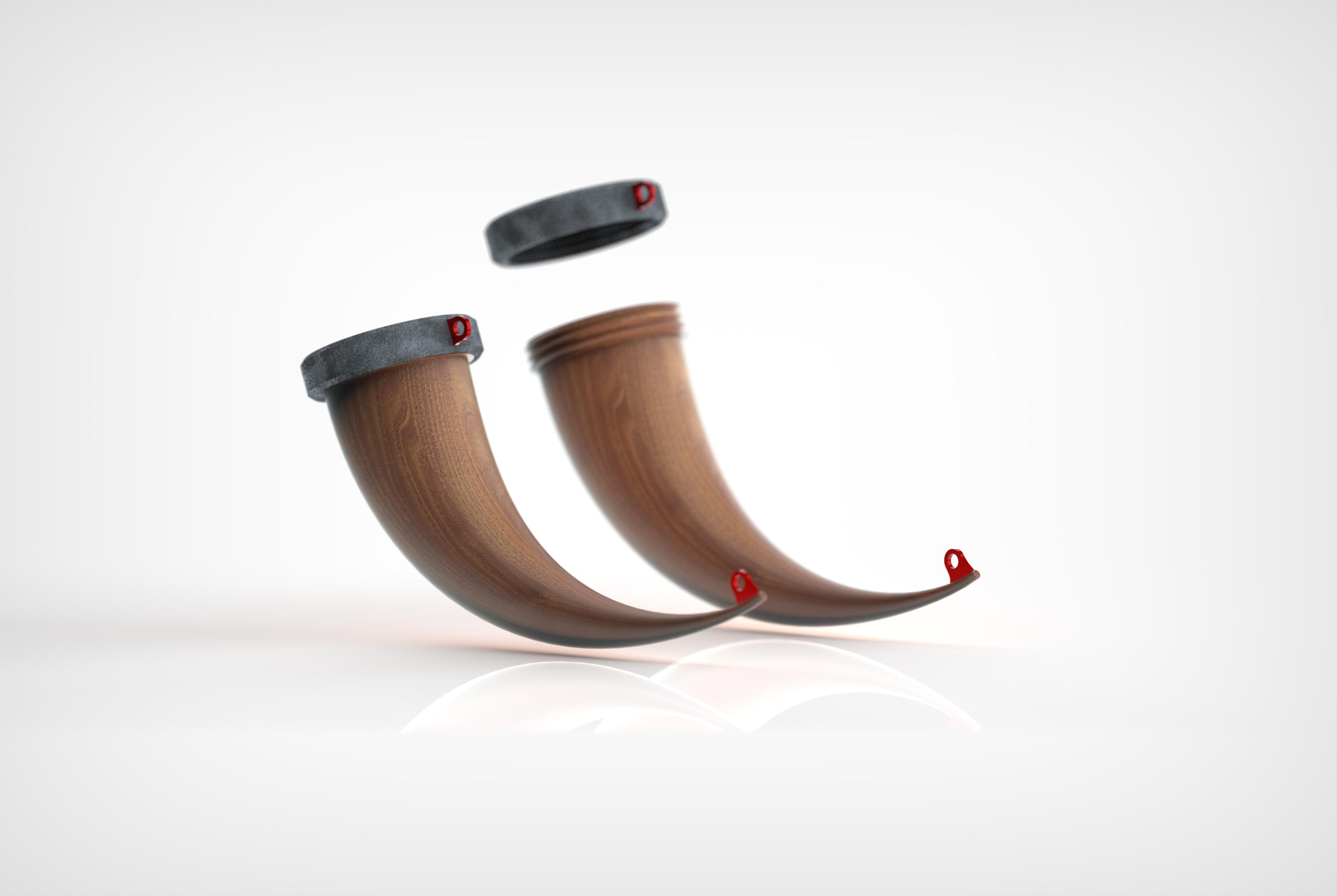 ren.161.png Download STL file Horn Mug • 3D printer object, Dekro