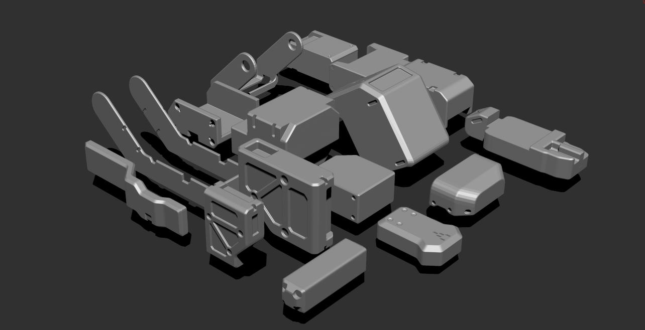 2.png Télécharger fichier STL gratuit Basic Kit-Bash Vol1 • Design à imprimer en 3D, Dekro