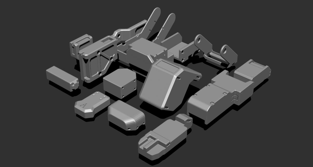 1.png Télécharger fichier STL gratuit Basic Kit-Bash Vol1 • Design à imprimer en 3D, Dekro