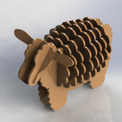 Download 3D printer designs Sheep Puzzle, Dekro