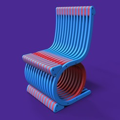 STL file Chair Design, Dekro
