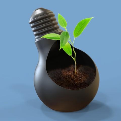 untitled.146d.jpg Download STL file Bulb Pot • 3D printable design, Dekro