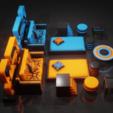 blender_MGBodFsZHl.png Download STL file Furniture Set • 3D printer object, Dekro