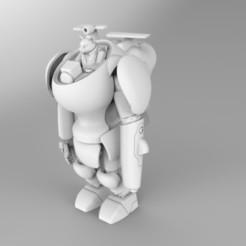 Imprimir en 3D Pequeño gato en un robot, Dekro